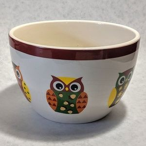 Vintage Owl Ceramic Small Mixing Bowl